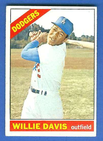 1966 Topps #535 Willie Davis SCARCE SHORT PRINT HI# [#b] (Dodgers) Baseball cards value