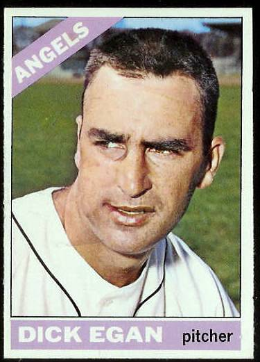 1966 Topps #536 Dick Egan SCARCE HI# [#a] (Angels) Baseball cards value