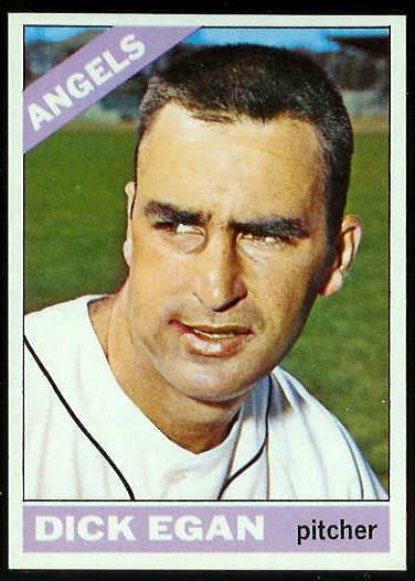 1966 Topps #536 Dick Egan SCARCE HI# [#b] (Angels) Baseball cards value