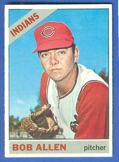 1966 Topps #538 Bob Allen SCARCE SHORT PRINT HI# [#b] (Indians) Baseball cards value