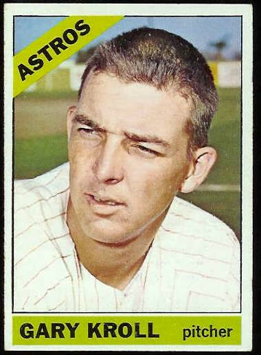 1966 Topps #548 Gary Kroll [#c] SCARCE SHORT PRINT HI# (Astros) Baseball cards value