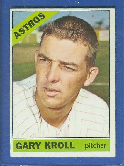 1966 Topps #548 Gary Kroll [#e] SCARCE SHORT PRINT HI# (Astros) Baseball cards value