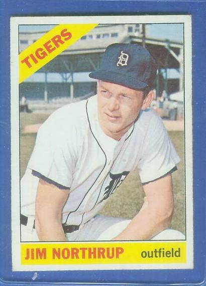 1966 Topps #554 Jim Northrup SCARCE SHORT PRINT HI# [#a] (Tigers) Baseball cards value