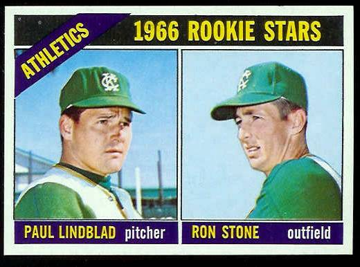 1966 Topps #568 A's ROOKIES [#a] SCARCE SHORT PRINT HI# (Kansas City A's) Baseball cards value