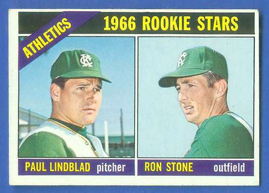 1966 Topps #568 A's ROOKIES [#b] SCARCE SHORT PRINT HI# (Kansas City A's) Baseball cards value