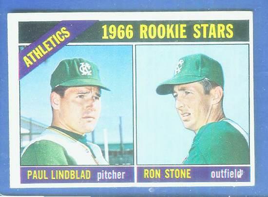 1966 Topps #568 A's ROOKIES [#c] SCARCE SHORT PRINT HI# (Kansas City A's) Baseball cards value