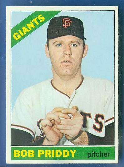 1966 Topps #572 Bob Priddy SCARCE HI# [#c] (Giants) Baseball cards value