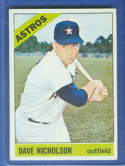 1966 Topps #576 Dave Nicholson [#a] SCARCE SHORT PRINT HI# (Astros) Baseball cards value