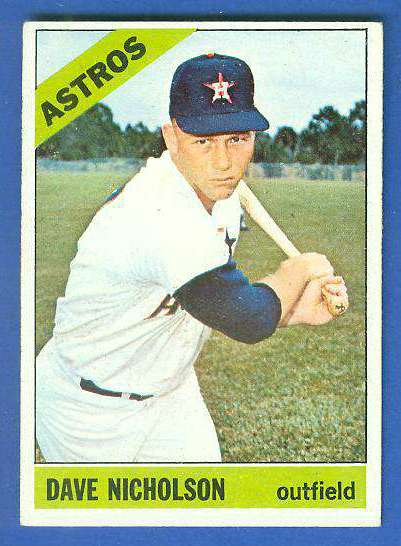 1966 Topps #576 Dave Nicholson [#b] SCARCE SHORT PRINT HI# (Astros) Baseball cards value