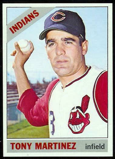 1966 Topps #581 Tony Martinez [#a] SCARCE HI# (Indians) Baseball cards value