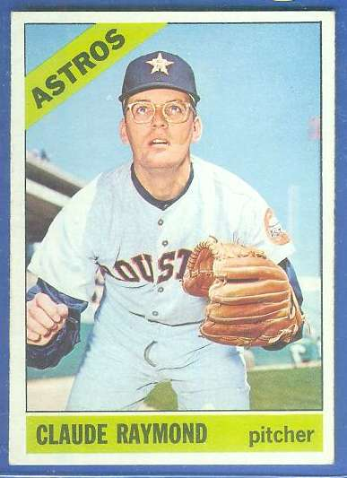 1966 Topps #586 Claude Raymond SCARCE SHORT PRINT HI# [#a] (Astros) Baseball cards value