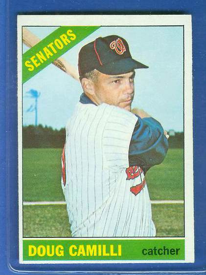 1966 Topps #593 Doug Camilli [#b] SCARCE SHORT PRINT HI# (Senators) Baseball cards value