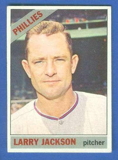 1966 Topps #595 Larry Jackson SCARCE HI# [#c] (Phillies) Baseball cards value