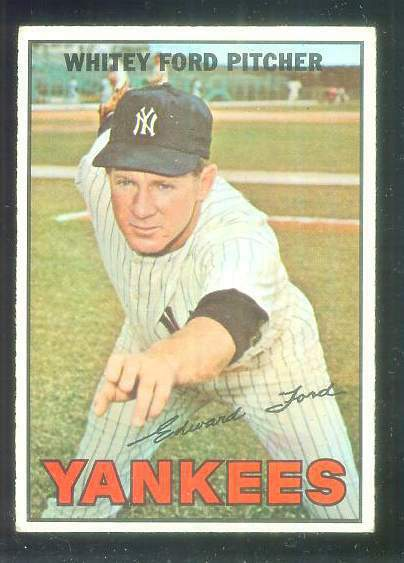1967 Topps #..5 Whitey Ford UER [#a] (Yankees) Baseball cards value