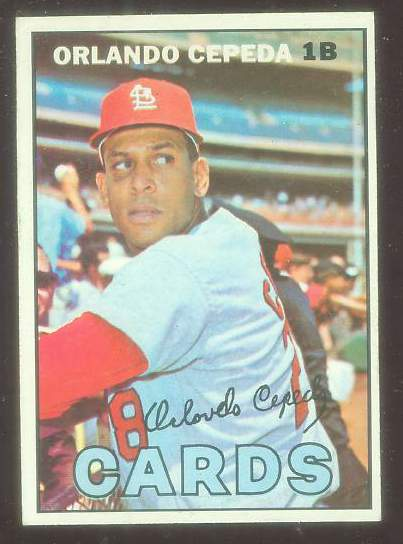 1967 Topps #.20 Orlando Cepeda (Cardinals) Baseball cards value