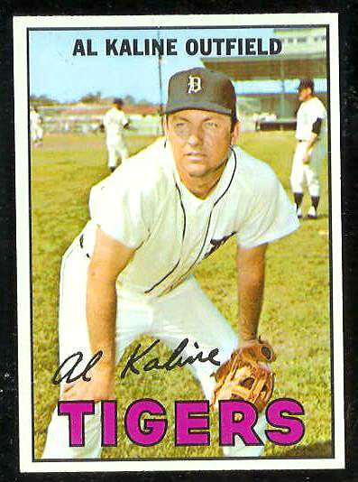 1967 Topps #.30 Al Kaline [#b] (Tigers) Baseball cards value