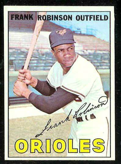 1967 Topps #100 Frank Robinson [#a] (Orioles) Baseball cards value