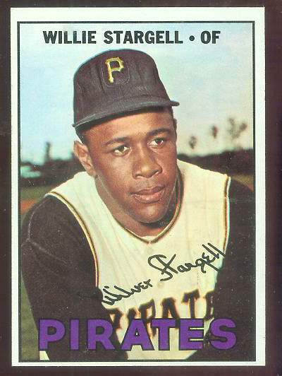 1967 Topps #140 Willie Stargell (Pirates) Baseball cards value