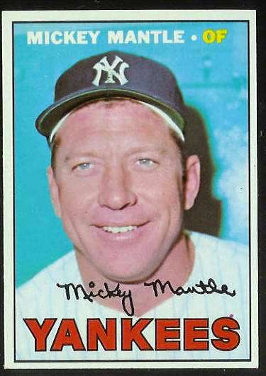 1967 Topps #150 Mickey Mantle [#b] (Yankees) Baseball cards value
