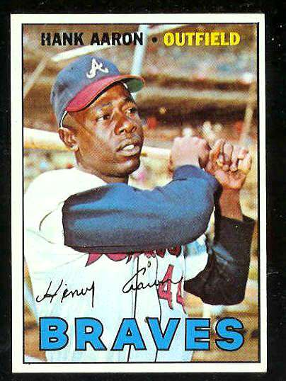 1967 Topps #250 Hank Aaron (Braves) Baseball cards value