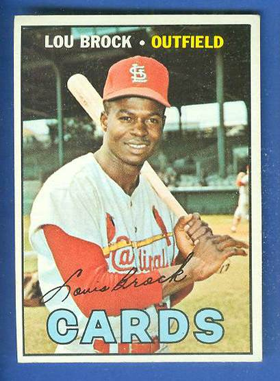 1967 Topps #285 Lou Brock [#a] (Cardinals) Baseball cards value