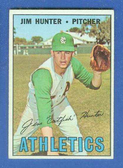 1967 Topps #369 Jim Hunter (Kansas City A's) Baseball cards value