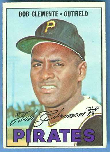 1967 Topps #400 Roberto Clemente (Pirates) Baseball cards value