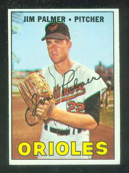 1967 Topps #475 Jim Palmer [#a] (Orioles) Baseball cards value