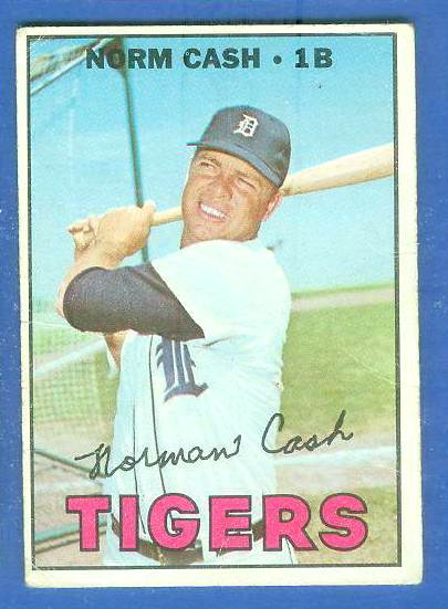 1967 Topps #540 Norm Cash SCARCE SINGLE PRINT (Tigers) Baseball cards value