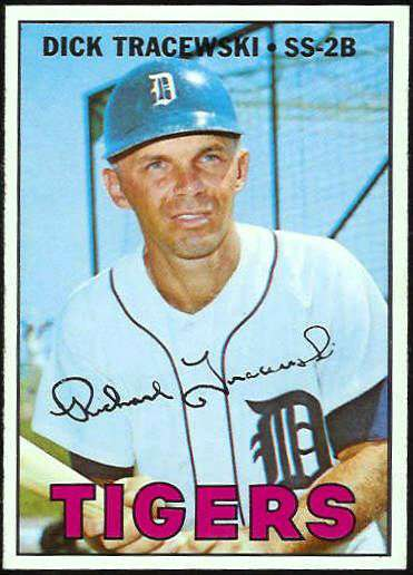 1967 Topps #559 Dick Tracewski [#a] (Tigers) Baseball cards value