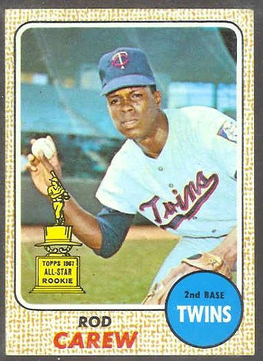 1968 Topps #.80 Rod Carew [#a] (Twins) Baseball cards value