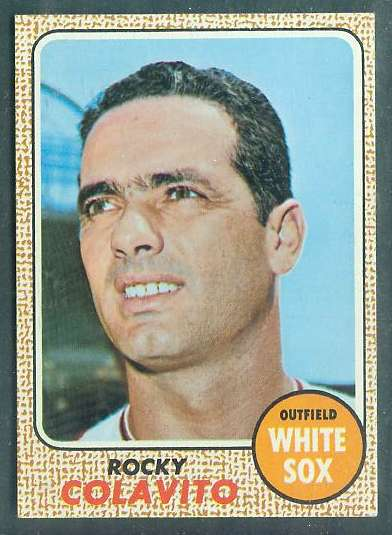 1968 Topps #.99 Rocky Colavito (White Sox) Baseball cards value
