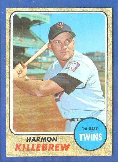 1968 Topps #220 Harmon Killebrew [#a] (Twins) Baseball cards value