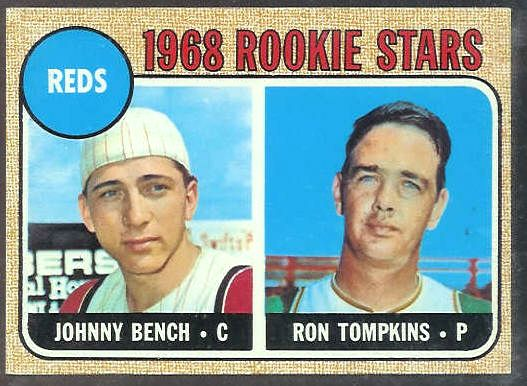 1968 Topps 247 Johnny Bench Rookie Reds