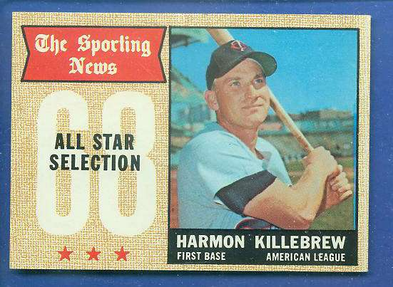 1968 Topps #361 Harmon Killebrew All-Star (Twins) Baseball cards value