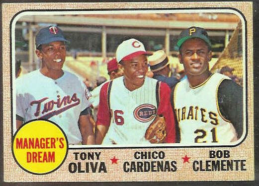1968 Topps #480 'Manager's Dream' featuring Roberto Clemente [#b] Baseball cards value
