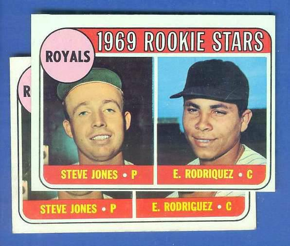 1969 Topps #.49-B Royals Rookies SCARCE 'RodiQuez' [#a] ERROR VARIATION Baseball cards value