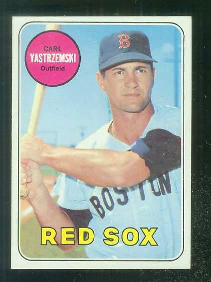 1969 Topps #130 Carl Yastrzemski [#a] (Red Sox) Baseball cards value