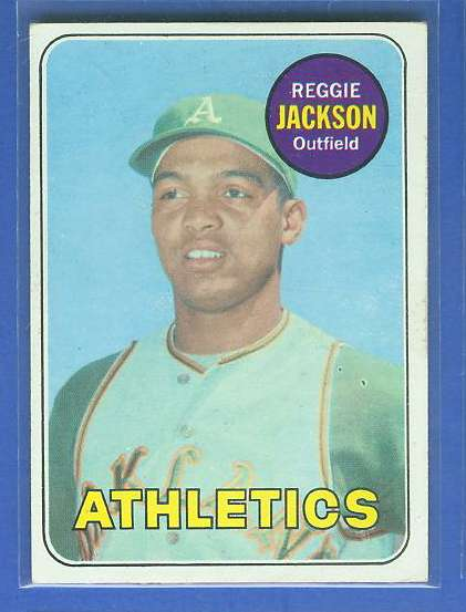 1969 Topps #260 Reggie Jackson ROOKIE [#b] (A's) Baseball cards value