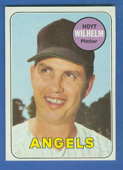 1969 Topps #565 Hoyt Wilhelm [#c] (Angels) Baseball cards value