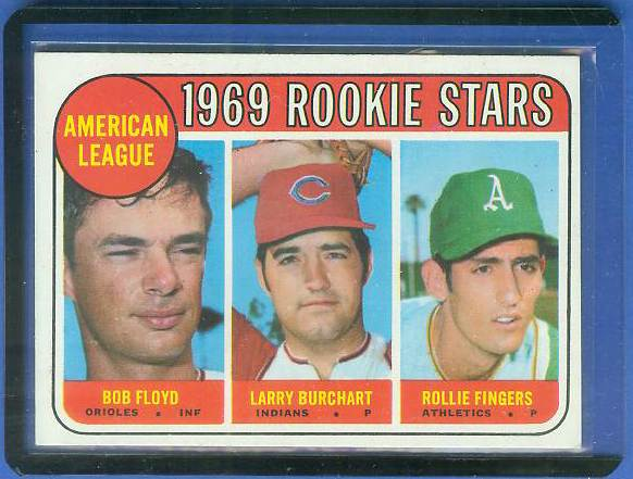 1969 Topps #597 Rollie Fingers ROOKIE [#a] (A's) Baseball cards value