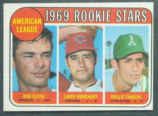 1969 Topps #597 Rollie Fingers ROOKIE [#b] (A's) Baseball cards value