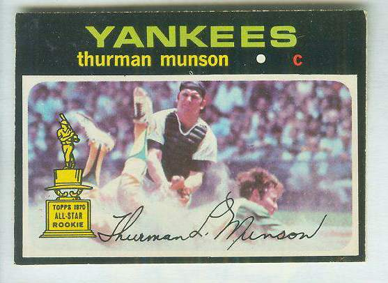 1971 O-Pee-Chee/OPC #..5 Thurman Munson [#a] (Yankees) Baseball cards value