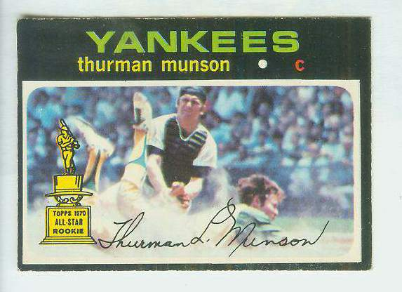 1971 O-Pee-Chee/OPC #..5 Thurman Munson [#b] (Yankees) Baseball cards value