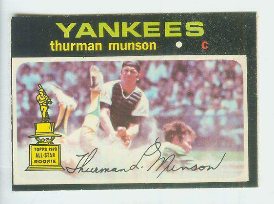 1971 O-Pee-Chee/OPC #..5 Thurman Munson [#c] (Yankees) Baseball cards value
