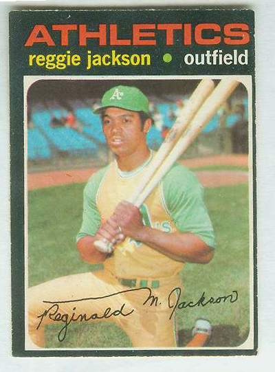 1971 O-Pee-Chee/OPC #.20 Reggie Jackson [#a] (A's) Baseball cards value