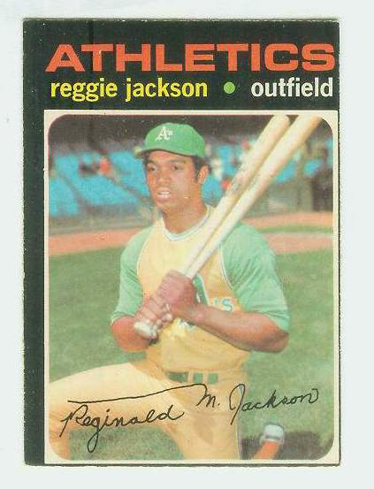 1971 O-Pee-Chee/OPC #.20 Reggie Jackson [#b] (A's) Baseball cards value