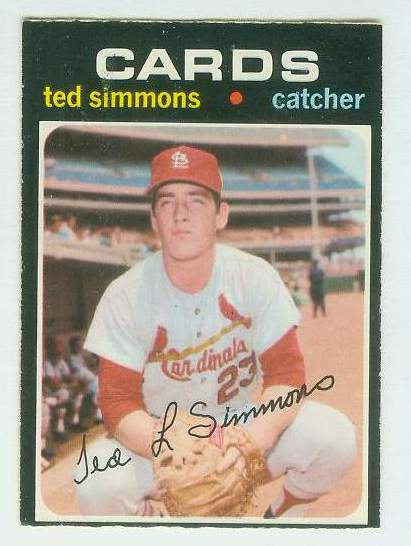 1971 O-Pee-Chee/OPC #117 Ted Simmons ROOKIE [#b] (Cardinals) Baseball cards value