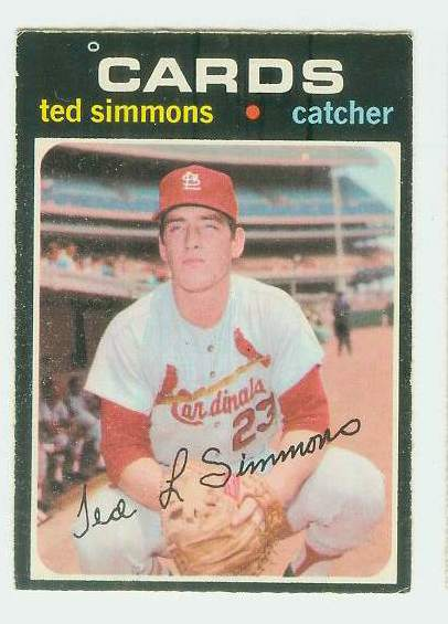 1971 O-Pee-Chee/OPC #117 Ted Simmons ROOKIE [#c] (Cardinals) Baseball cards value