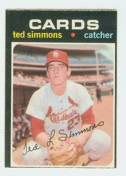 1971 O-Pee-Chee/OPC #117 Ted Simmons ROOKIE [#d] (Cardinals) Baseball cards value